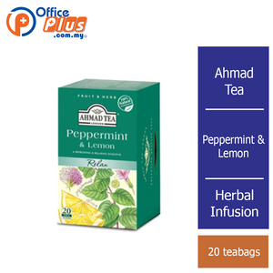 Ahmad Tea Peppermint & Lemon Herbal Infusion - 20 teabags - OfficePlus