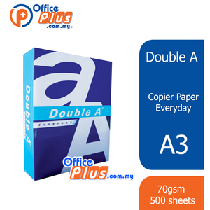Double A A3 Copier Paper Everyday 70gsm - 500 sheets (RM 25.00 - RM 26.00/ream) - OfficePlus