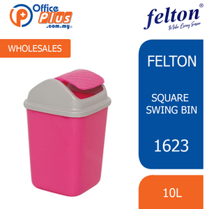 1623 FELTON SQUARE SWING BIN - 10L - OfficePlus