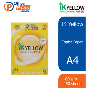IK Yellow A4 Copier Paper 80gsm - 450 sheets - OfficePlus