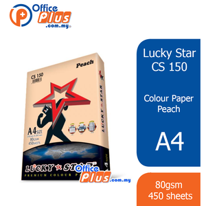 Lucky Star A4 Colour Paper CS150 Peach 80gsm - 450 sheets - OfficePlus