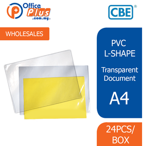 CBE A4 PVC L-Shape Holder 1466A (RM 0.70 - RM 1.00/pc) - OfficePlus