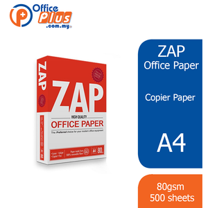 Zap A4 Copier Paper 80gsm - 500 sheets (Klang Valley) - OfficePlus