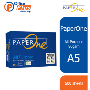 PaperOne A5 Copier Paper All Purpose 80gsm - 500 Sheets - OfficePlus