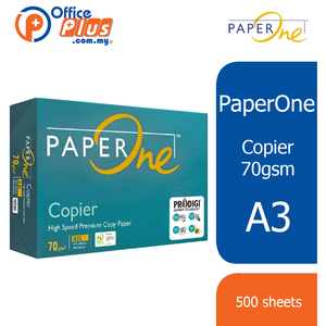 PaperOne A3 Copier Paper 70gsm - 500 sheets (RM 18.50 - RM 19.00/ream)