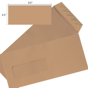 Butterfly Brown Envelope – 4.5″x 9.5″ Window- 20S/PACK - OfficePlus