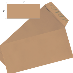 Butterfly Brown Envelope – 4″x 9″ Non Window 500S/Box - OfficePlus.com.my