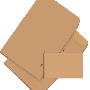 Butterfly Brown Envelope-6″x9″ 500'S/BOX - OfficePlus