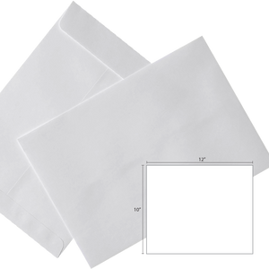 Butterfly White Envelope- 10″ x 12″-250's/Box - OfficePlus