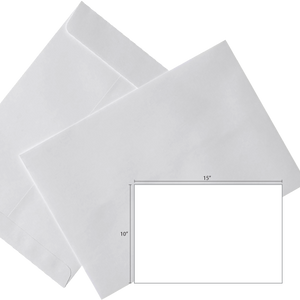 Butterfly White Envelope – 10″ x 15″-250's/Box - OfficePlus