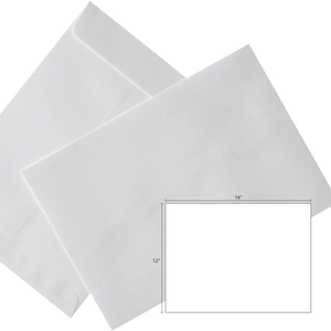 Butterfly White Envelope – 12″ x 16″ – 250's/Box - OfficePlus