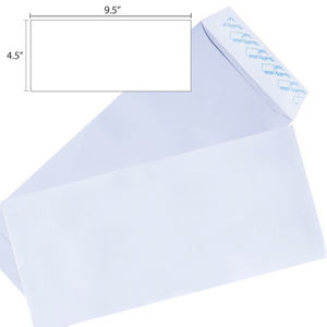 Butterfly White Envelope – 4.5″ x 9.5″ Non Window Peal & Seal - 500's/Box - OfficePlus