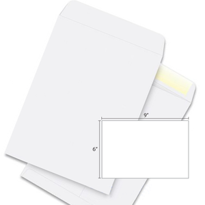 Butterfly White Envelope – 6″ x 9″- 500'S/Box - OfficePlus