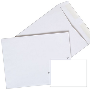 Butterfly White Envelope – 9″ x 12″-250's/Box - OfficePlus