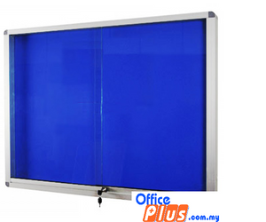 SLIDING GLASS ALUMINIUM CABINET FOAM BOARD FG – 46 120 x 180CM (4′ x 6′) - OfficePlus.com.my