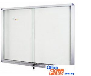 SLIDING GLASS ALUMINIUM CABINET SOFT BOARD SG – 48 120 X 240CM (4′ X 8′) - OfficePlus.com.my