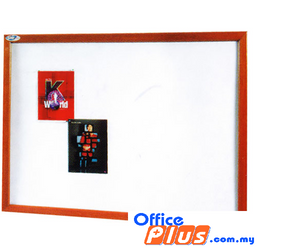 SOFT NOTICE BOARD WOODEN SB-34W 90 X 120CM (3′ X 4′) - OfficePlus.com.my