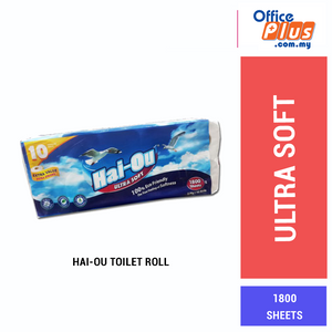 Hai-Ou Twin Ply Tissue/ Toilet Roll (180SHT/10RLS) - OfficePlus