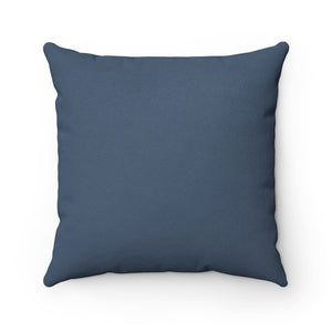 Solid Blue Faux Suede House Pillow