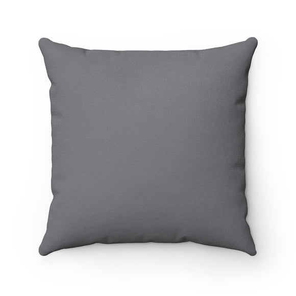 Adira - Gray Faux Suede Modern Accent Pillow