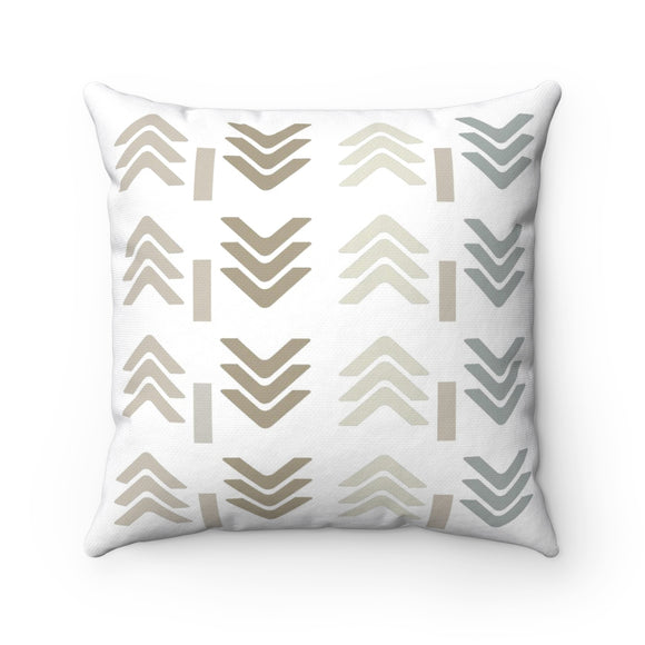 Adira - Modern Beige And Gray Pillow