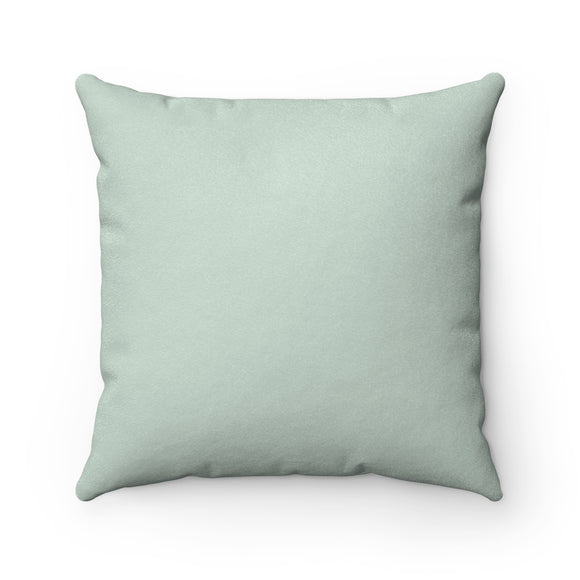 Palladian Blue Light Faux Suede Pillow