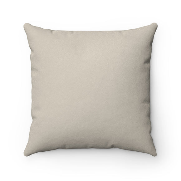 Solid Beige Faux Suede Pillow