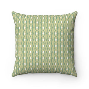 Green and White Abstract Large Couch Pillow