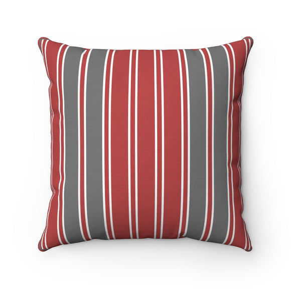 Red Gray Large Bench Pillow