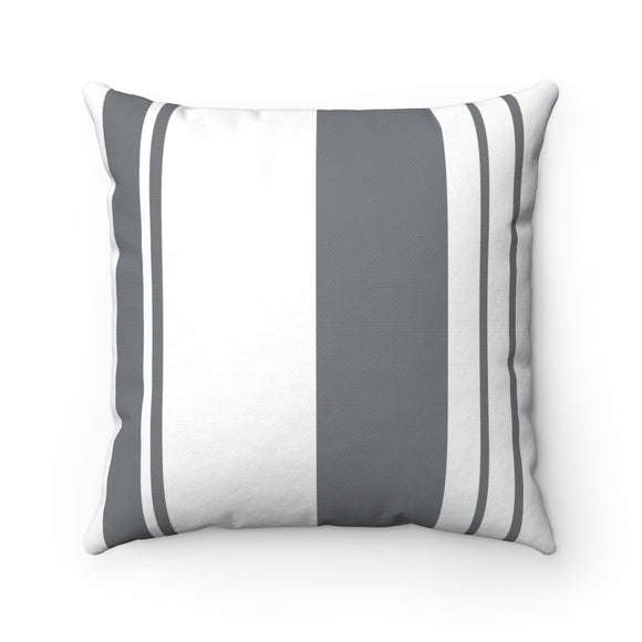 White And Gray Stripes Modern Room Pillow