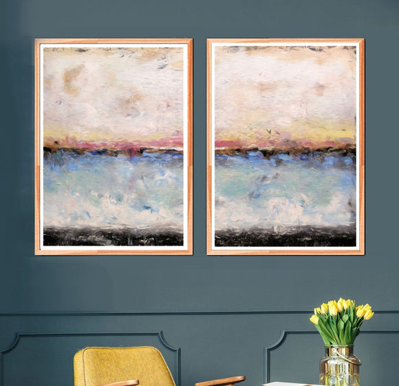 Abstract Art Seascape - Set Of 2