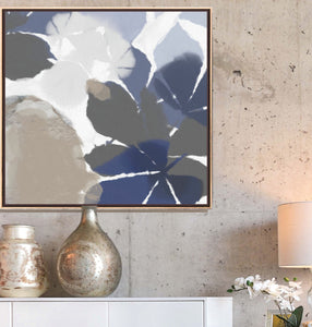 Blue And Beige Abstract Art - Serena
