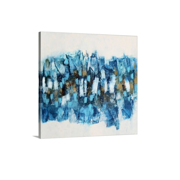 Bright Blue Abstract Art - Allegra