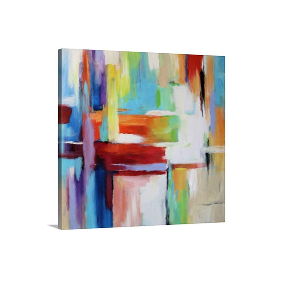 Colorful Wall Art, Extra Large Abstract Canvas Art Print, Bold Blue Red Modern Abstract Living Room Home Decor