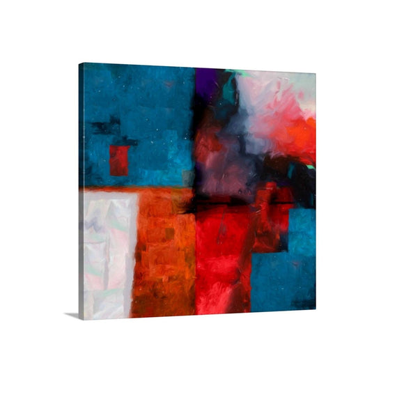 bold red and blue artwork, online abstract gallery, art boutique