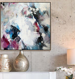 Gray Wall Art Abstract Print