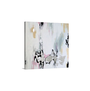 White Abstract Art,Modern Wall Art Print On Canvas, Pink White And Gray Decor