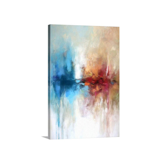 Allegra - Contrast Abstract Art, 24x36