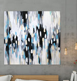Gray Abstract Art, Piano Music