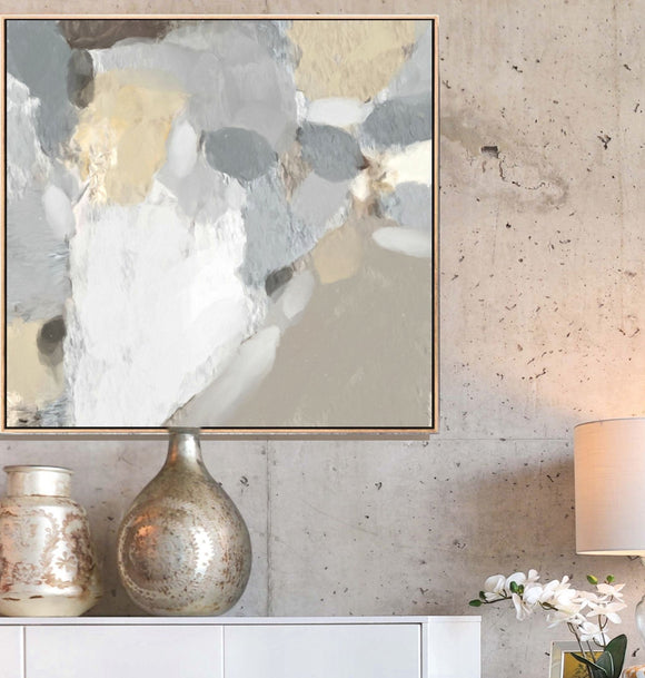 Beige Abstract Art - Serena