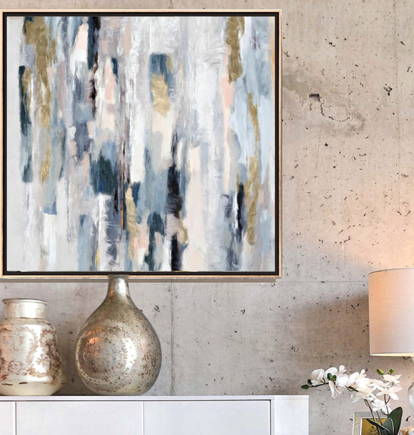 Serene Abstract Print, Large Wall Art