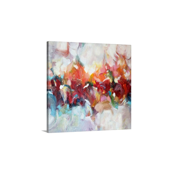 Red Abstract Art, Large Wall Art Canvas Print, Modern Colorful Wall Decor, 24x24, 36x36, 40x40
