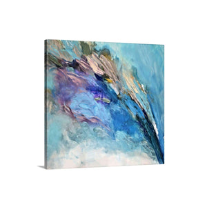 bright blue wall art , abstract art gallery
