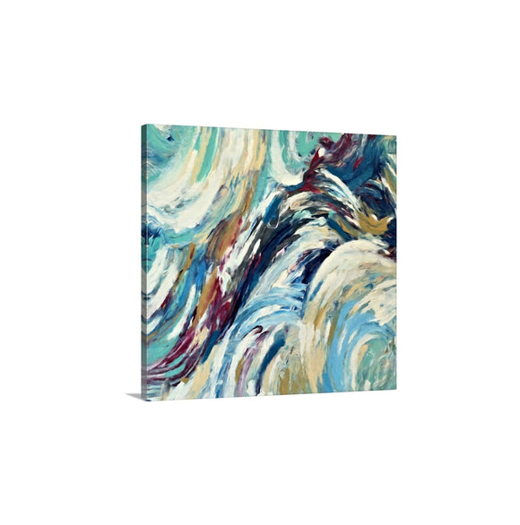 Mint Abstract Art, Blue Modern Wall Art Giclee Print On Canvas, 24x24 30x30, Ready To Hang