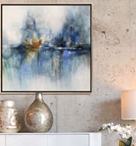 Blue Abstract Art Print - Serena
