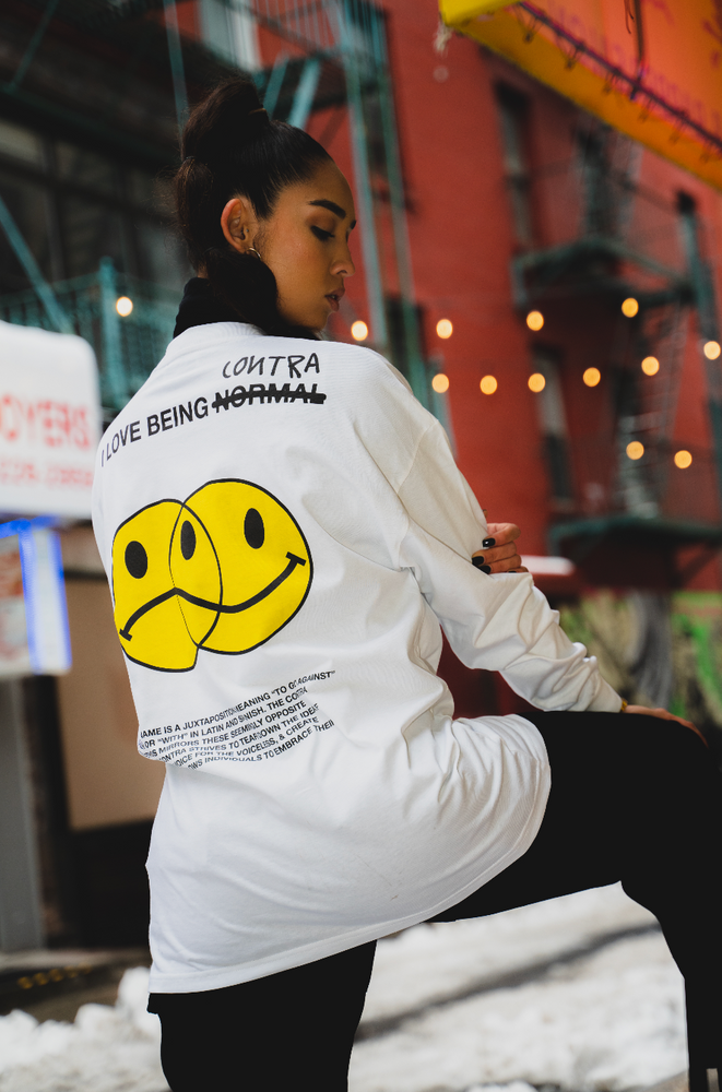 Load image into Gallery viewer, Happy Sad Long Sleeve Tee