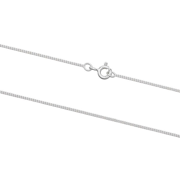 925 Sterling Silver CURB Chain Necklace 1.1mm - Charming and Trendy Ltd