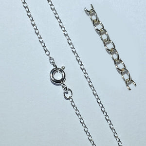 925 Sterling Silver TRACE Chain Necklace 1.3mm - Charming And Trendy Ltd