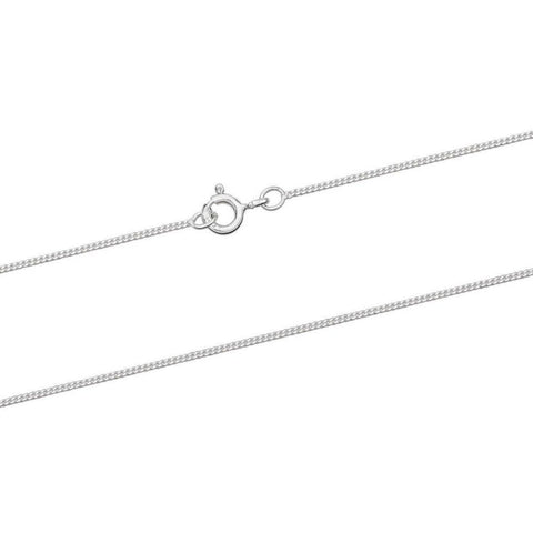 925 Sterling Silver CURB Chain Necklace 1.2mm - Charming and Trendy Ltd