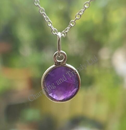 Amethyst Sterling Silver Necklace CT9002